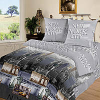 """Комплект 1-спальний 3D колекції """"Нью-Йорк"""". Іванівський Поплін. Бавовна 100%."""