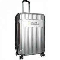 Большой серебристый чемодан Transit  National Geographic арт. N115HA.71;23