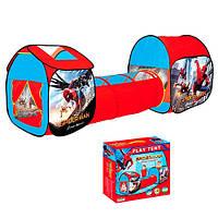 Детская двойная палатка с тоннелем, Spider Man (M 3763)