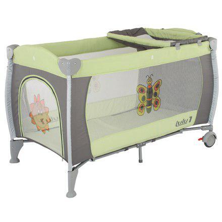 Манеж-кровать Quatro Lulu 1 с пеленатором  салатовый - графит
