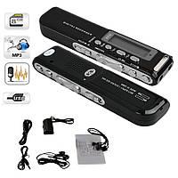 Автоматический ДИКТОФОН 8GB профессиональный + MP3 плеер , фото 1