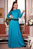 Бирюзовое платье Юлия Н1 Медини 42-44 размер