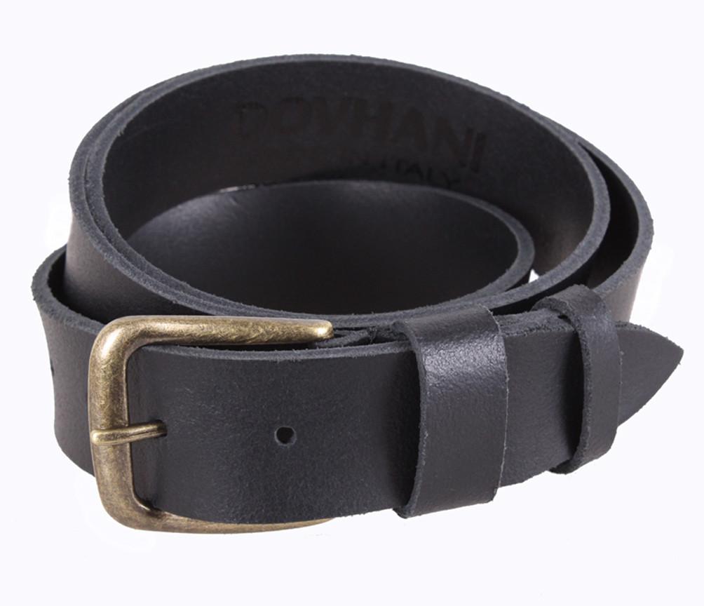 Мужской ремень из натуральной кожи под джинсы SP999-17 черный