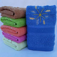 БАННОЕ махровое полотенце с вышивкой. Махровые полотенца оптом 96-1