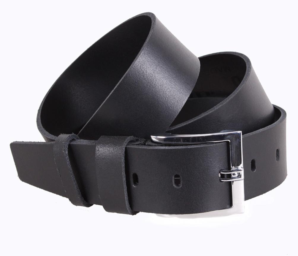 Мужской кожаный ремень Dovhani SP999-21 115-125 см Черный