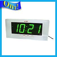 Настольные часы с зеленой подсветкой VST-729-2!Опт