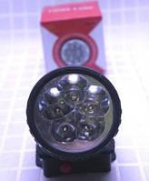 Фонарик налобный на батарейках R6 на 5 светодиодов