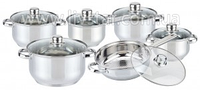 Посуды Набор Кухонной, 6 Предметов 2.0, 2.0, 2.70, 3.70, 6.10, 2.90 Лтр.