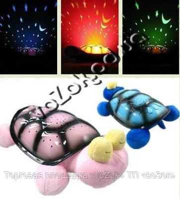 Проектор-светильник ночник звездное небо музыкальная Морская черепаха Snail Twilight musical с USB-кабелем - Торговая площадка «voZok» ТП «воЗок» в Одессе