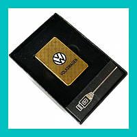 Электроимпульсная USB зажигалка Volkswagen!Опт