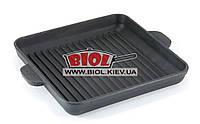 Чугунная порционная квадратная сковорода-гриль 18х18х2,5см BRIZOLL (Украина) Н181825Г