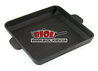 Чугунная порционная квадратная сковорода 18х18х2,5см BRIZOLL (Украина) Н181825