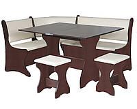 Кухонный уголок+раскладной стол+табуреты 2 шт, Италия (Компанит)