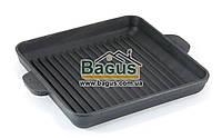 Сковорода-гриль чавунна квадратна 180х180х25мм, посуд чавунна Brizoll (Україна) Н181825Г, фото 1