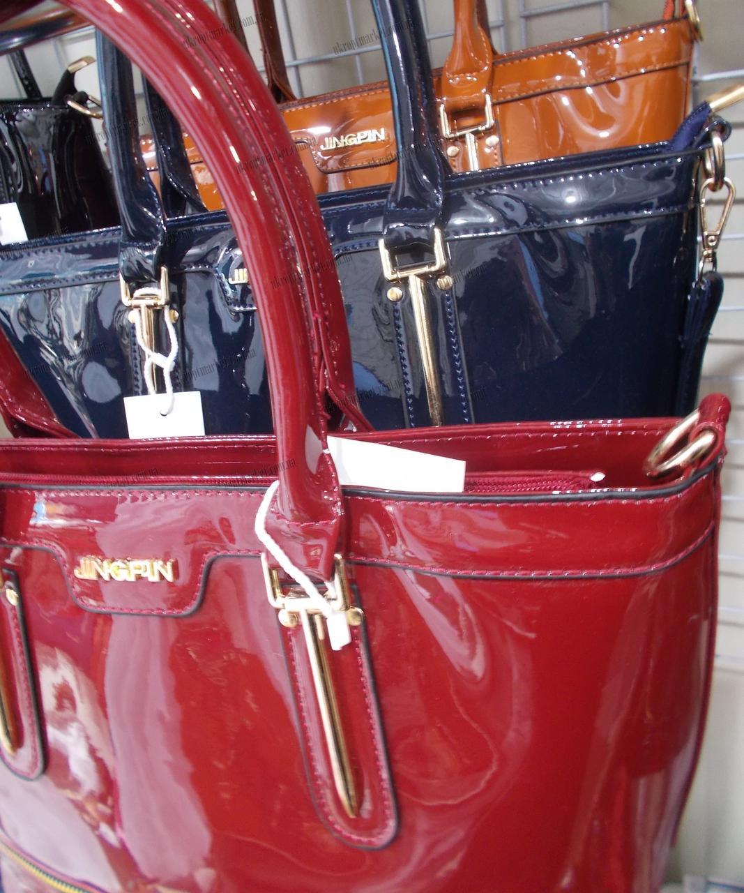 17369a421f48 ... Женская сумка лакированная (31x25см)