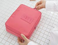 Органайзер для Косметики Travel (Розовый)  / дорожный органайзер для путешествий