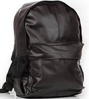 Стильный рюкзак, рюкзак городской, кожаный рюкзак черный