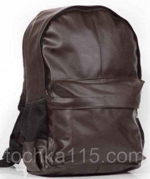 dbde37422a7e Рюкзак кожаный городской, стильный кожаный рюкзак коричневый от ...