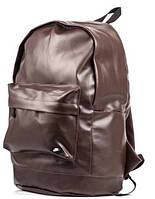 Рюкзак Nike, городской рюкзак найк эко кожа коричневый реплика, фото 1
