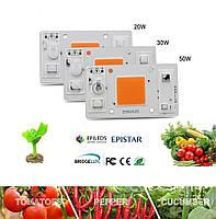 Светодиодный чип фито  для растений  LED 30вт 230в Full Spectrum NEW