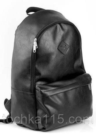 d953e8d5648e Стильный городской рюкзак, рюкзак кожаный, кожаный рюкзак черный от ...