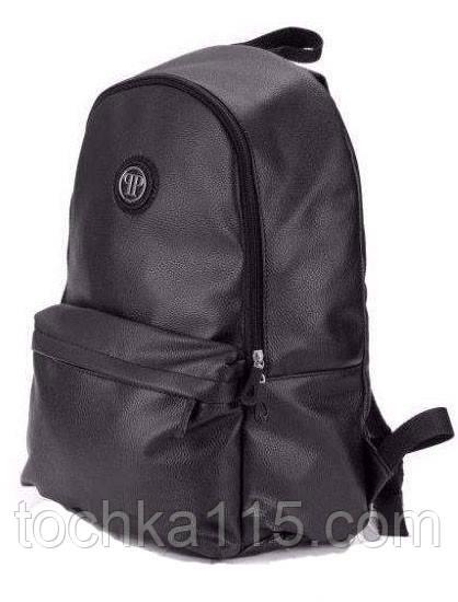 7baa87dc59c4 Стильный городской рюкзак Philipp Plane, мужской рюкзак, женский рюкзак, рюкзак  кожаный, черный