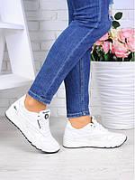 Кроссовки женские кожаные рибок белые со шнурками