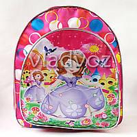 Детский рюкзак для дошкольника принцесса София красный