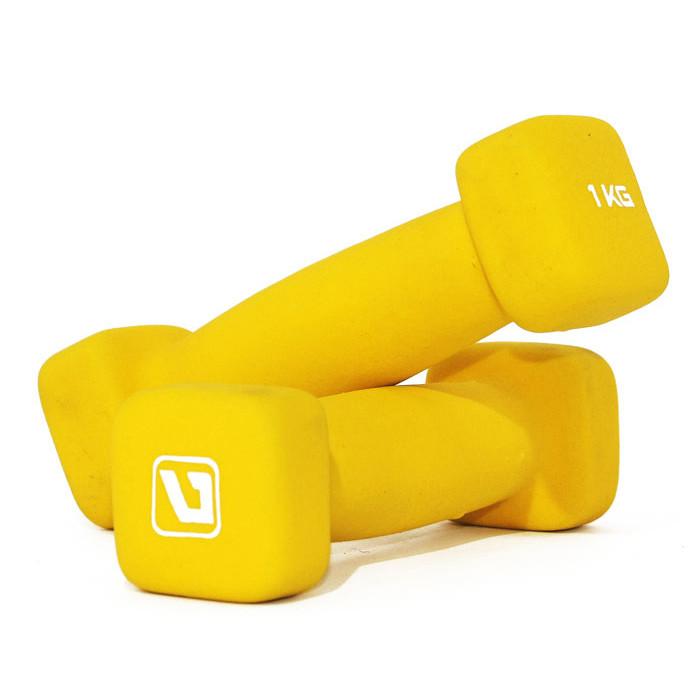 Гантели неопреновые квадратные LiveUp 1 кг SQUARE HEAD (LS2002-SQ1)