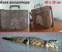 Сумка папка из кожи крокодила. Деловая сумка руководителя.
