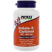 Now Foods, Индол-3-карбинол, 200 мг, 60 капсул в растительной оболочке