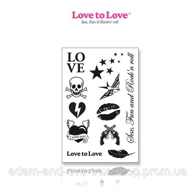 Набор временных тату Love to Love - Rock My Tattoo