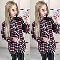 Женская красивая рубашка в клетку (2 цвета), фото 1