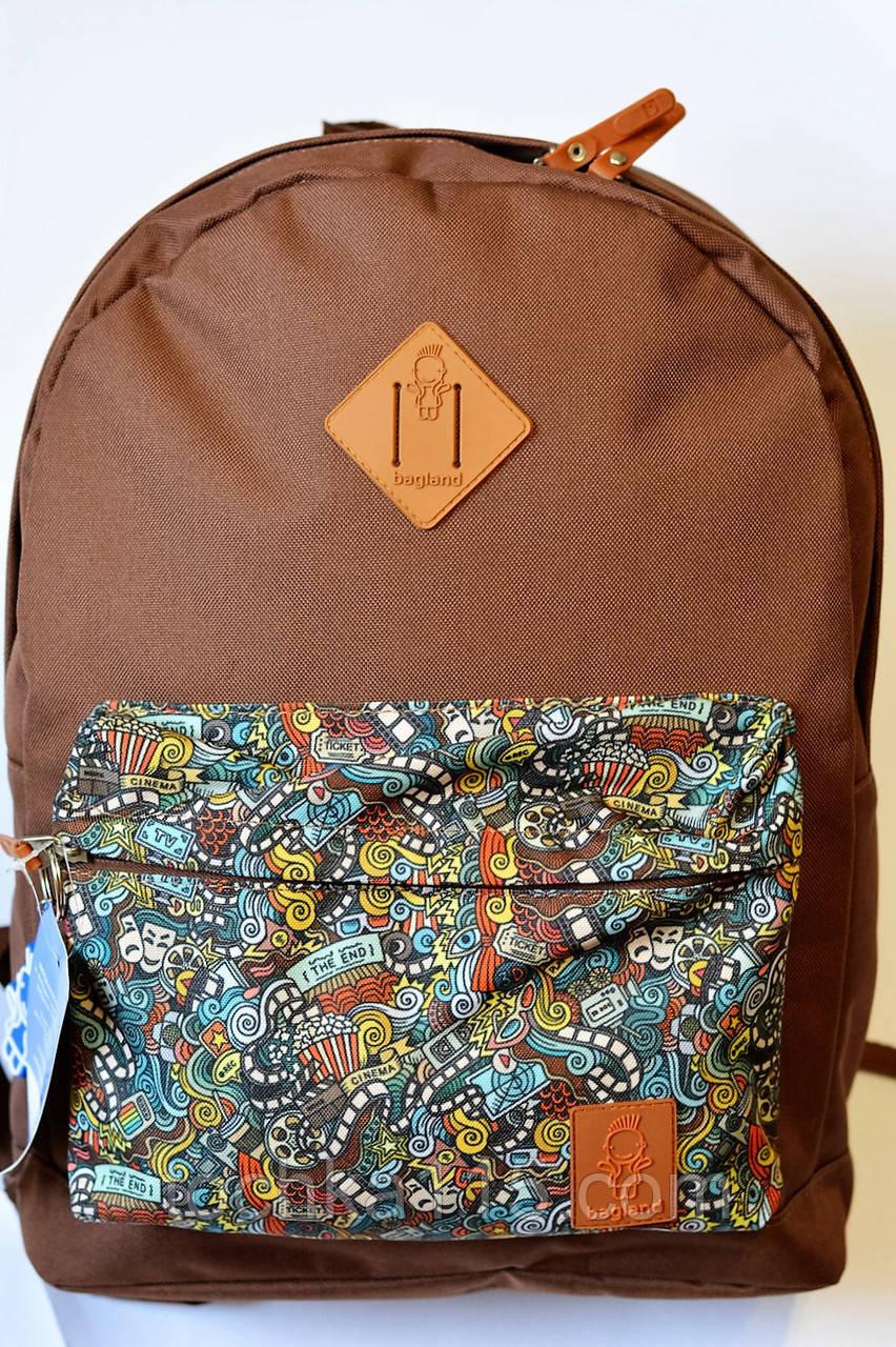 Рюкзак аналог Nike Bagland найк коричневый принт