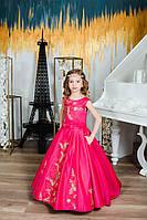 Детское нарядное платье на выпуск малиновое