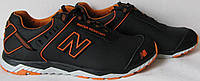 New Balance ! Мужские кроссовки кожаные спорт life стиль кросовки 2018 в стиле NB черные с оранжевым