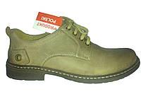 Кожаные польские мужские удобные стильные демисезонные ботинки 40р Enzo
