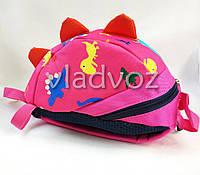 Детский рюкзак для дошкольника динозврик малиновый