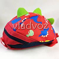 Детский рюкзак для дошкольника динозврик красный