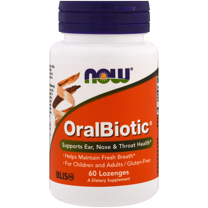 OralBiotic NOW Foods 60 Lozenges (Оральні пробіотики)