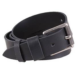 Мужской ремень из натуральной кожи под джинсы SP999-23 черный