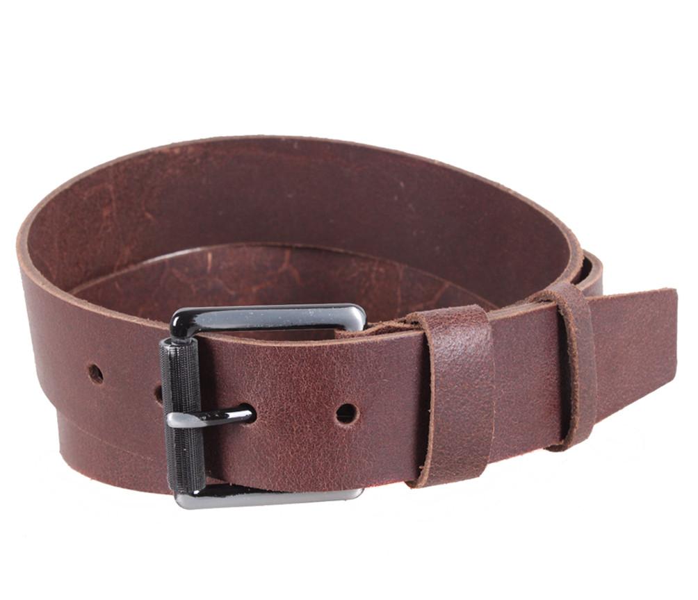 Мужской кожаный ремень Dovhani SP999-27 115-125 см Коричневый