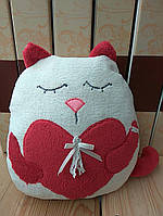 "Игрушка-подушка ""Кот с сердцем"""