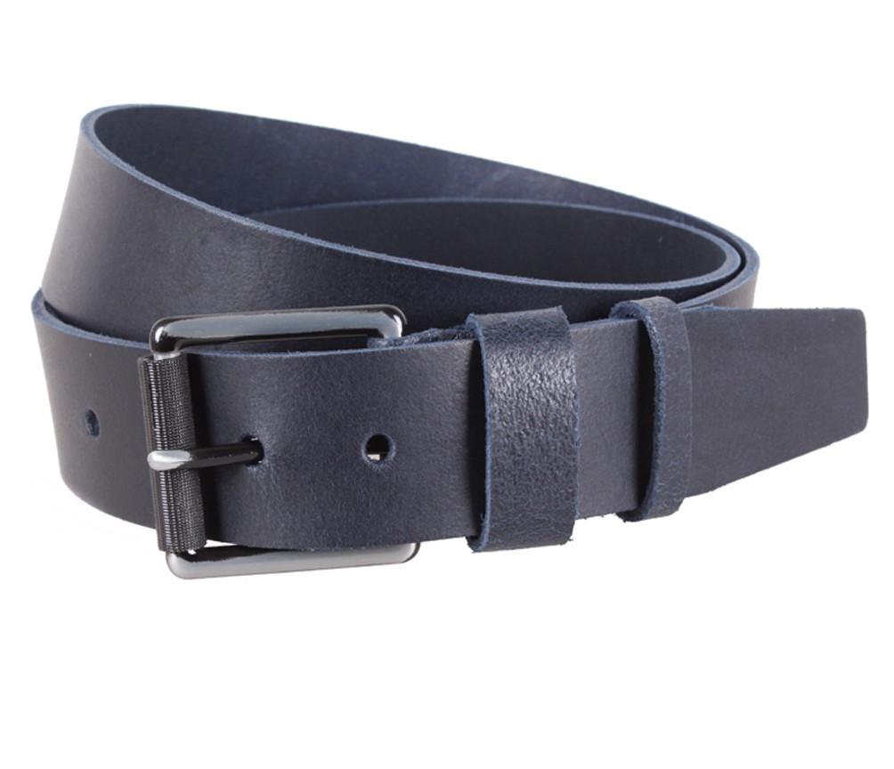 Мужской кожаный ремень Dovhani SP999-28 115-125 см Синий