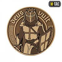Нашивка M-Tac Deus Vult 3D ПВХ койот, фото 1