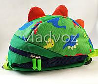 Детский рюкзак для дошкольника динозврик зелёный