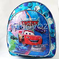 Детский рюкзак для дошкольника тачки синий