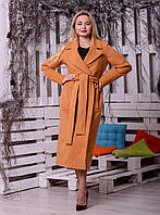 Женское длинное пальто под пояс в разных расцветках 16269JP, фото 1