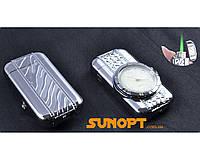 Зажигалка карманная с часами Сердечко (Турбо пламя) №XT-3922 Silver