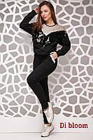 Женский спортивный костюм с пайеткой на кофте (в расцветках) 16300SP